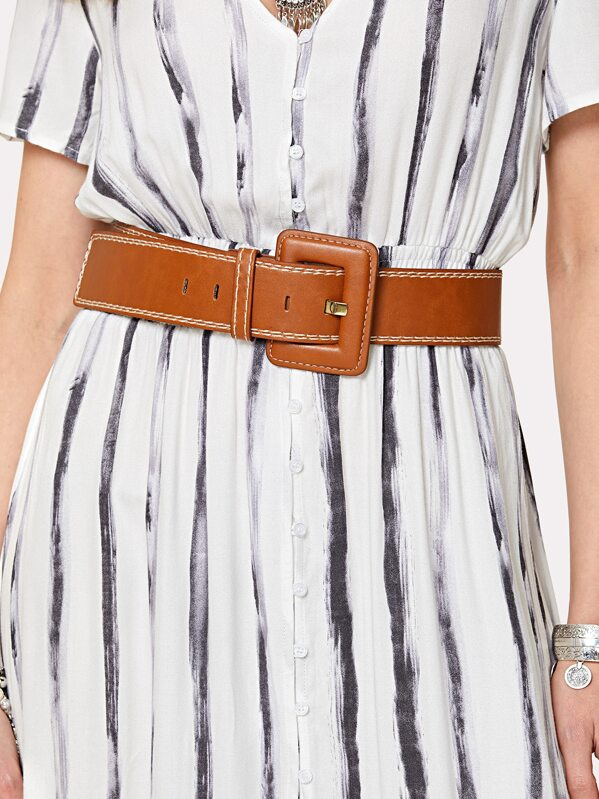 Square Buckle Belt, null