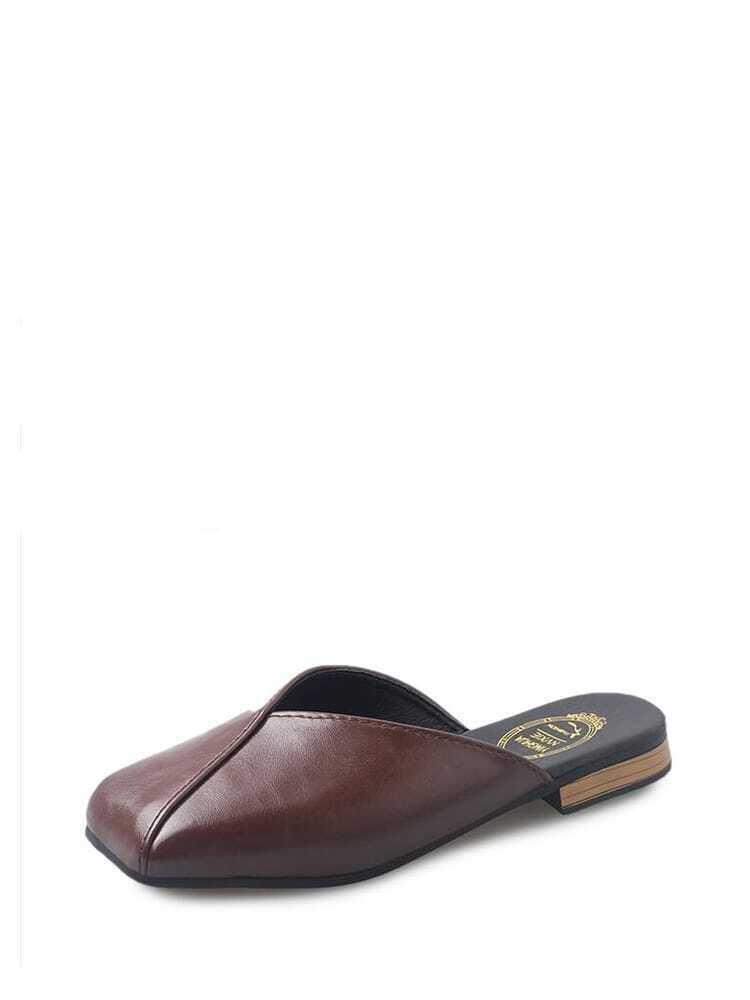 Square Toe Flat Sliders