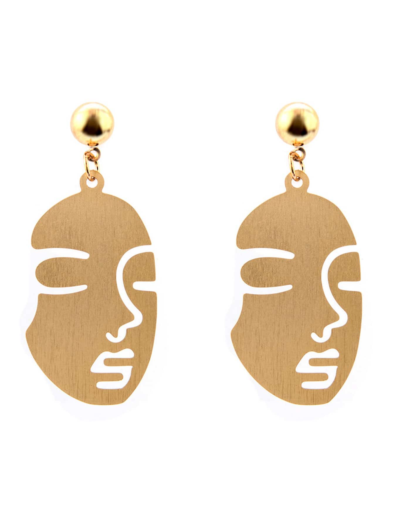 Face Design Drop Earrings