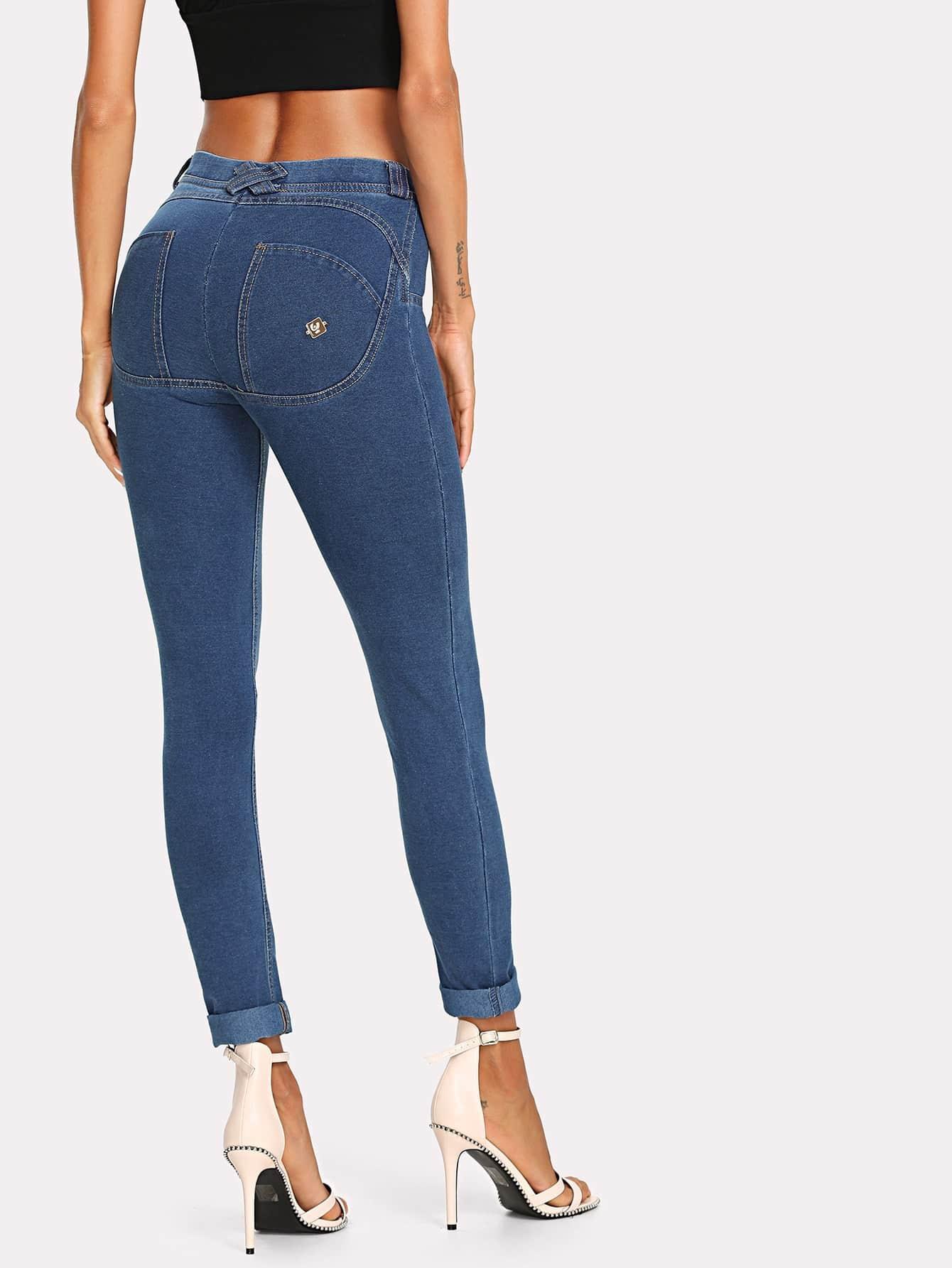 Купить Твердые тощие джинсы, Andy, SheIn