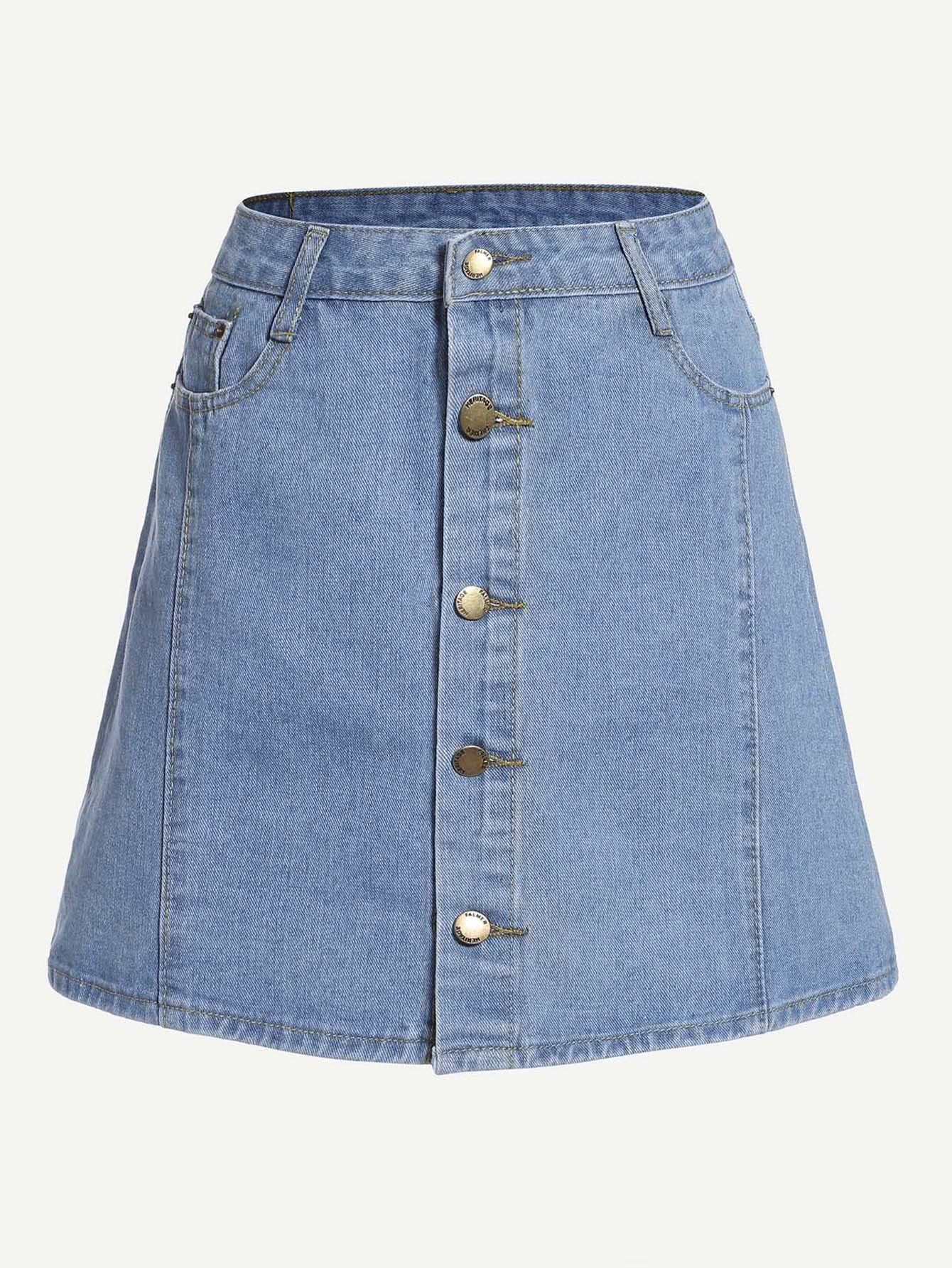 Button Front Denim Skirt button front swimsuit