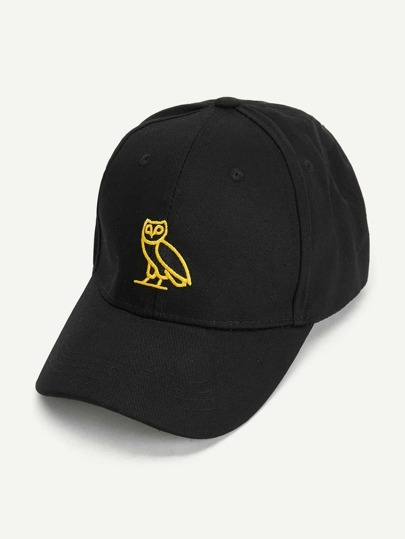 Owl Embroidered Baseball Cap