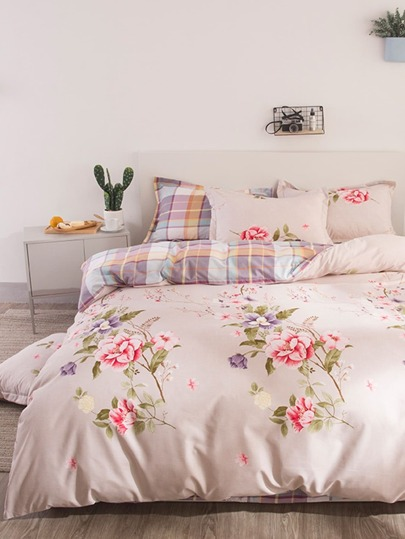 2.0m 4pcs Floral Print Bedding Set