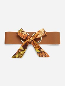 Scarf Bow Front PU Belt