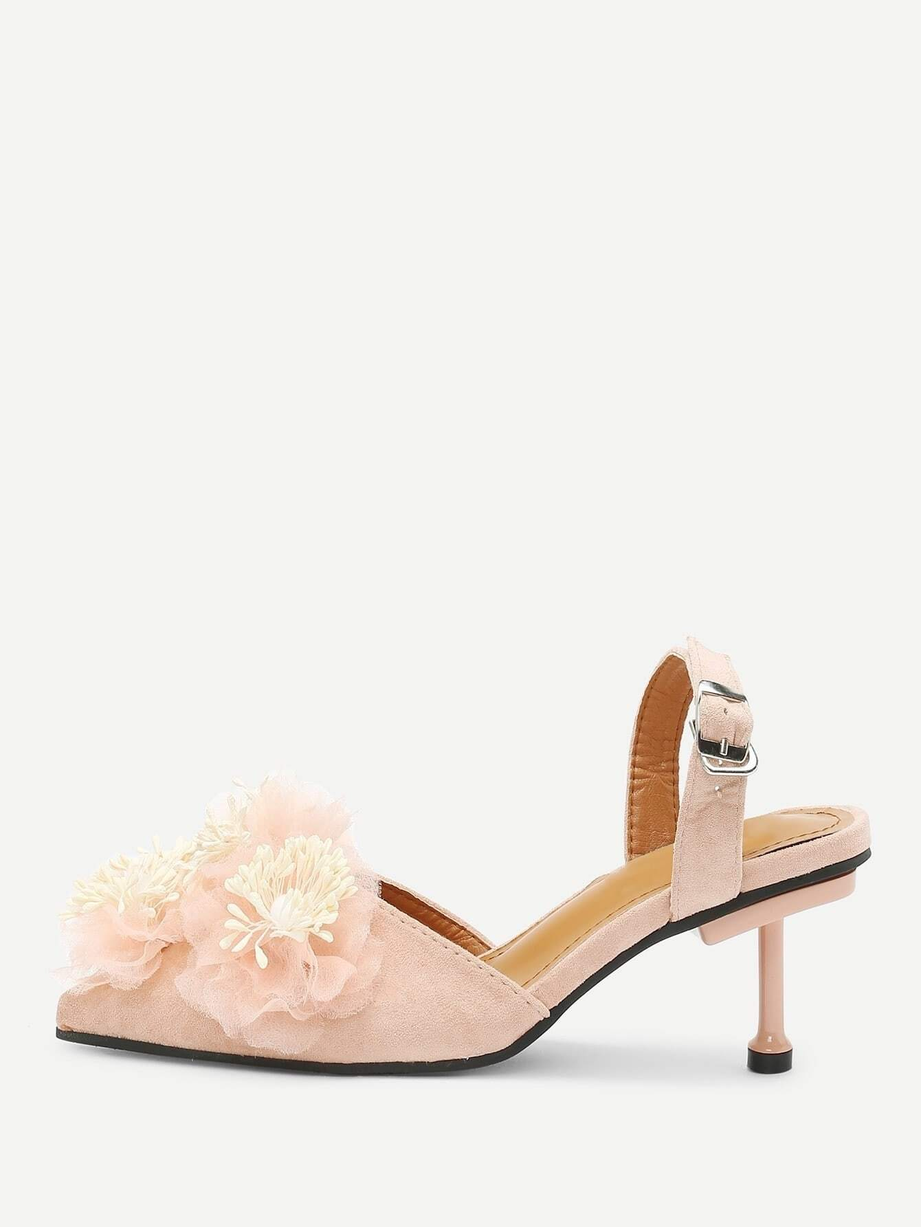 Flower Applique Stiletto Heels printha ellis mary bowen way ahead 5 story аудиокурс cd
