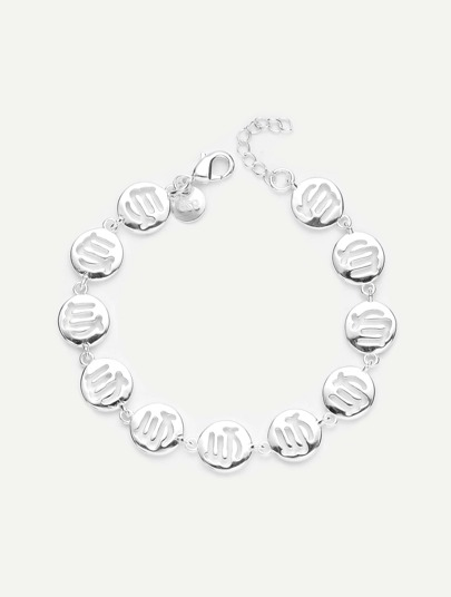 Hollow Round Design Chain Bracelet