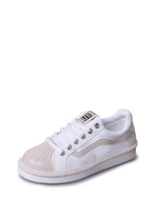 Shell Head Lace Up Sneakers