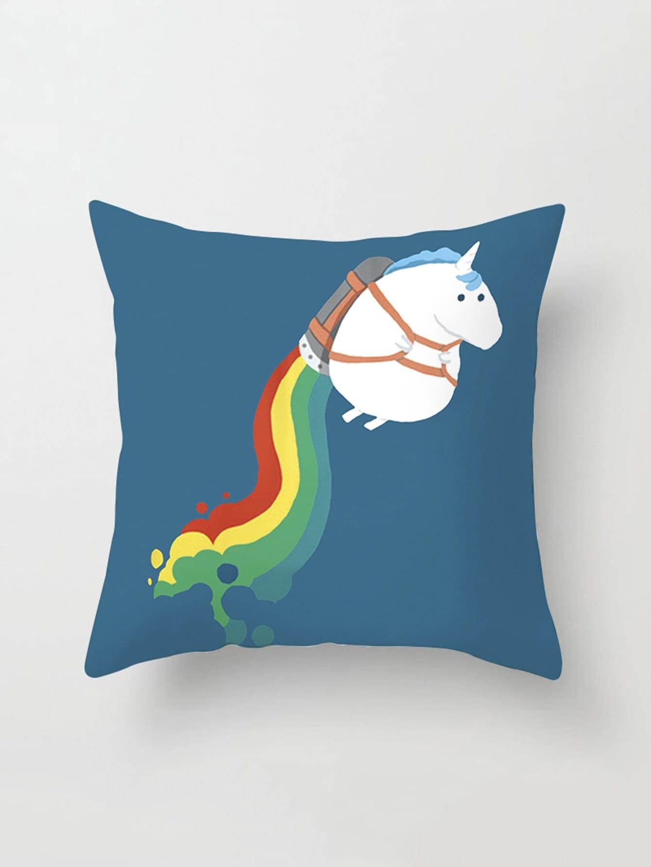 Cartoon Print Pillow Cover