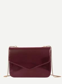 PU Flap Crossbody Bag