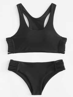 Laddering Cut Side Bikini Set
