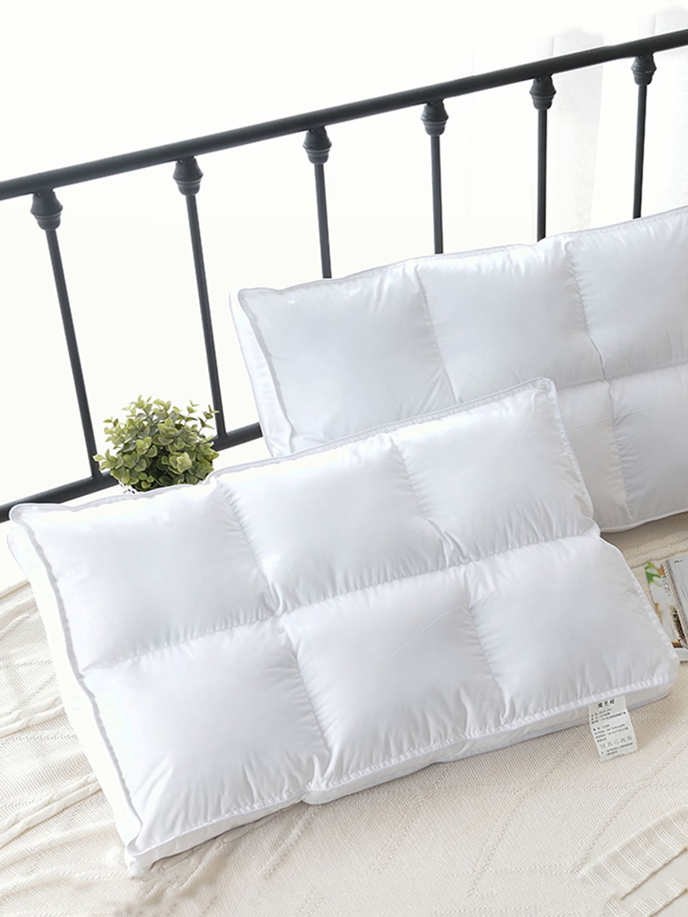 Stitch Trim Quilted Pillow 1pc 1pc