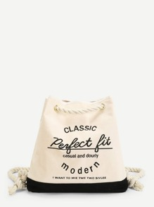 Double Tassel Canvas Backpack