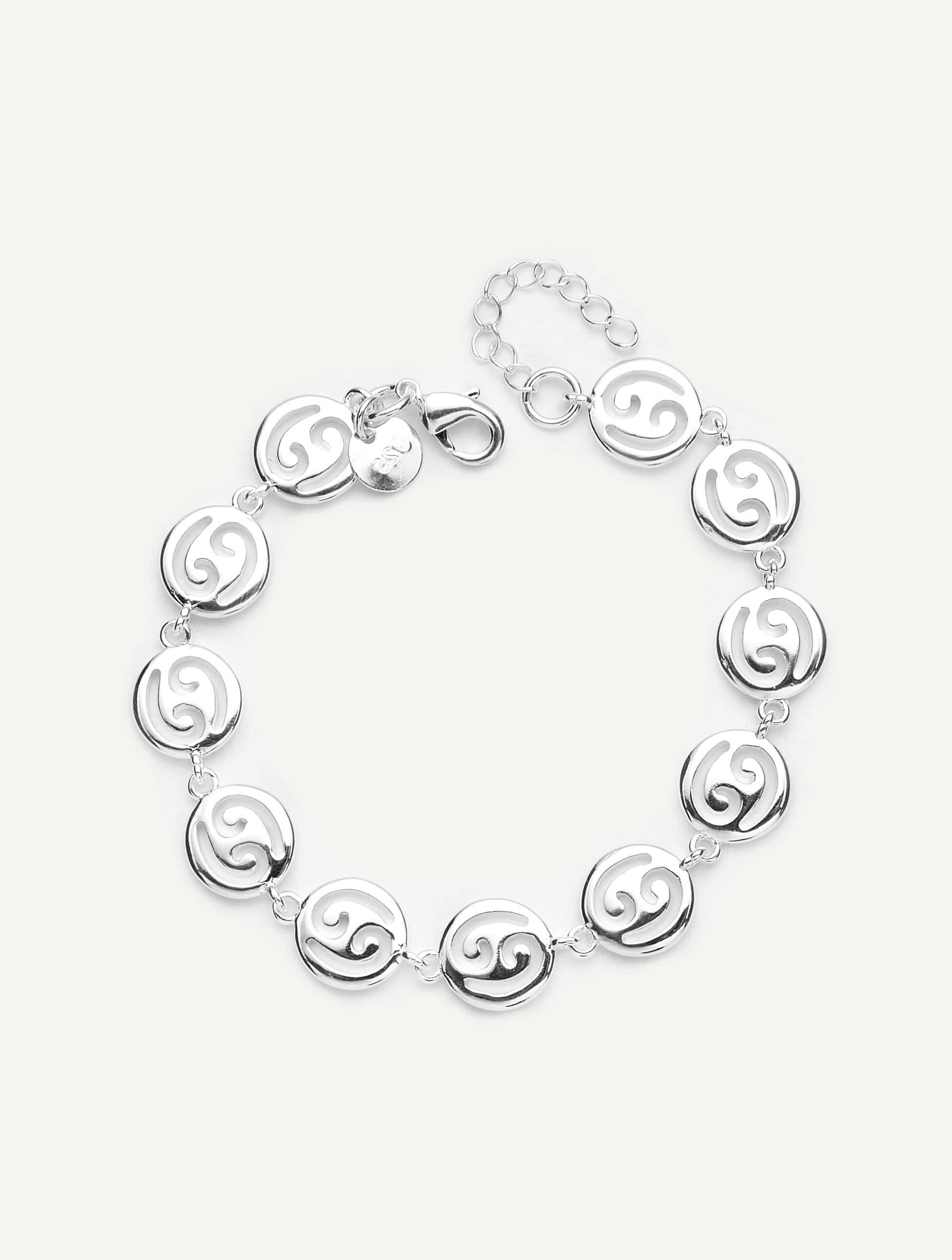 Hollow Round Design Link Bracelet honeywell metrologic ms7625 usb horizon page 8