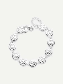 Hollow Round Design Link Bracelet