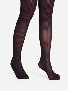 Vertical Striped Design Pantyhose Stockings