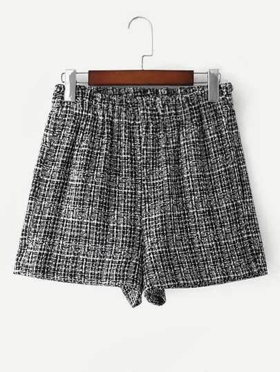 Elastic Waist Tweed Shorts