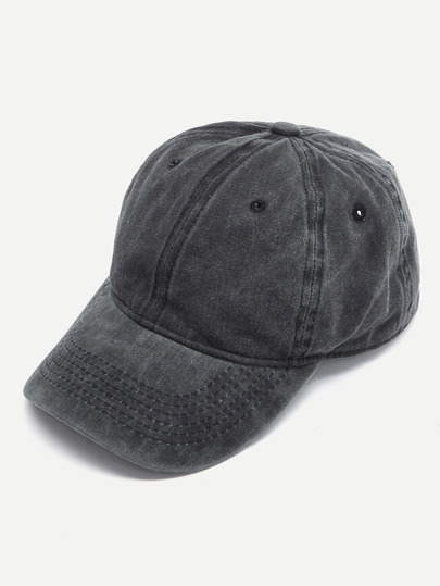 Embroidered Hole Detail Baseball Cap