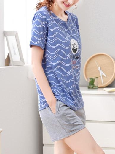 Стиль кэжуал Текст с карманами многоцветный Домашняя одежда