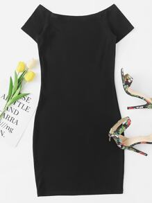 Boat Neck Raglan Sleeve Dress