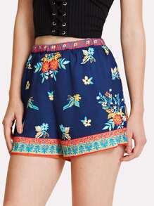 Ornate Print Shorts