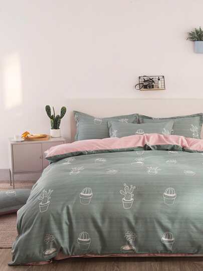 2.0m 4pcs Cactus Print Bedding Set