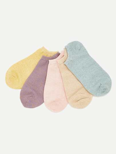 Cotton Invisible Ankle Socks 5pairs