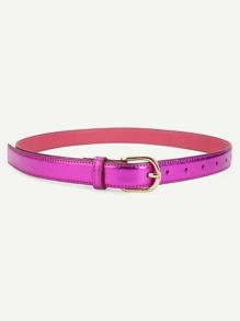 Contrast Buckle PU Belt