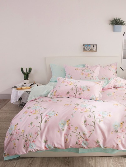 2.2m 4pcs Calico Print Bedding Set