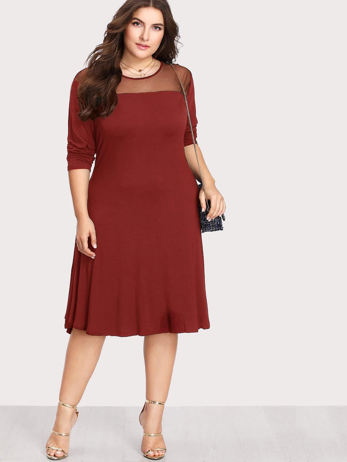 Mesh Insert Dress sequin mesh insert bodycon club dress