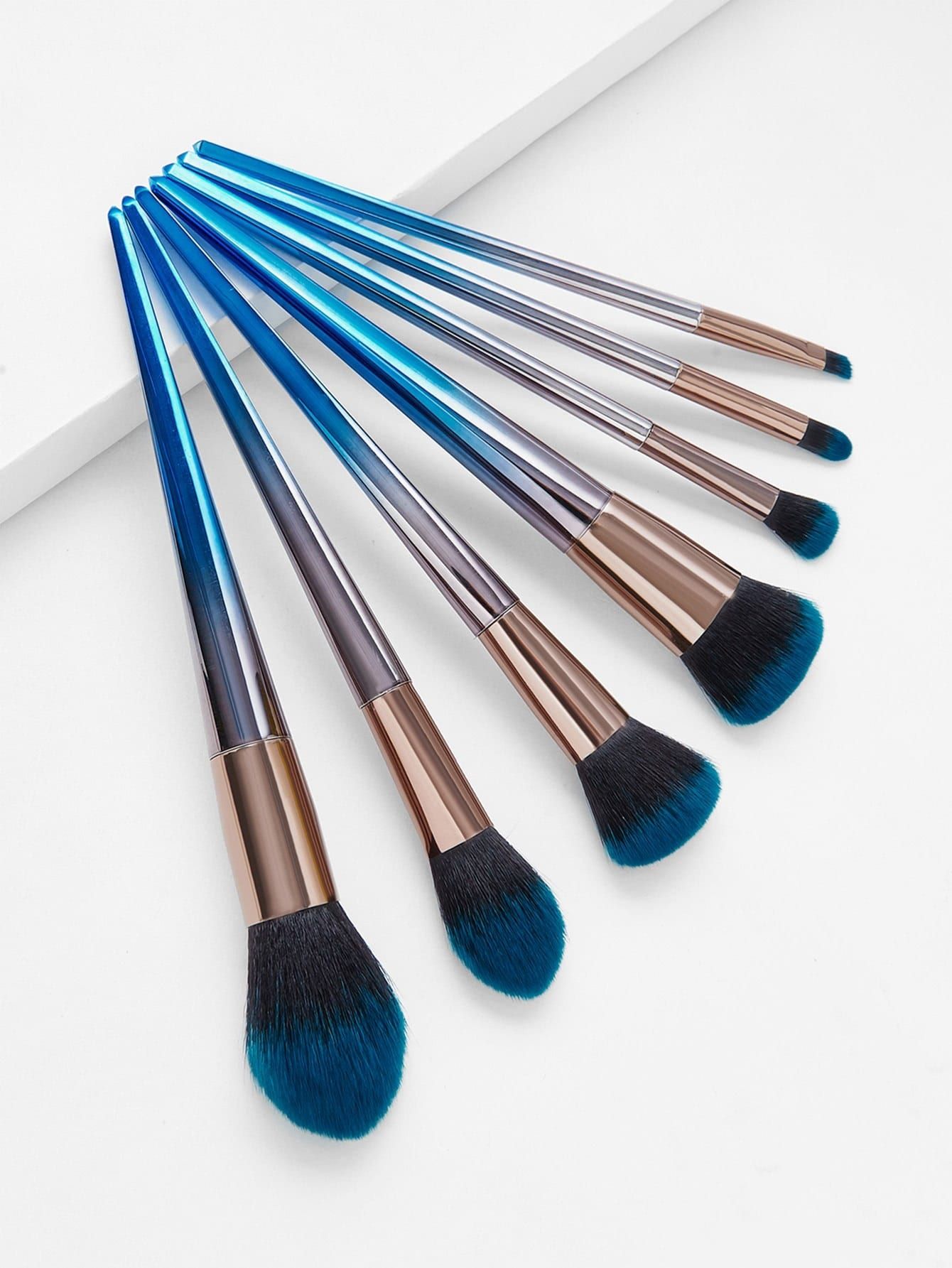 Two Tone Bristle Makeup Brush 7pcs two tone drop shoulder sweatshirt