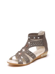 Jewelled Strappy Ankle Strap Sandals