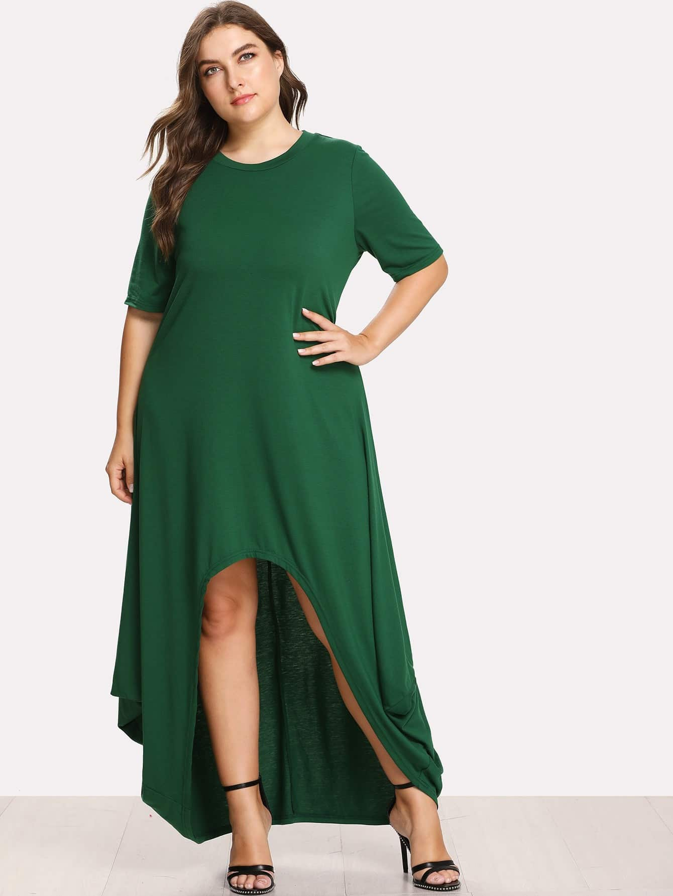 High Low Cocoon Dress
