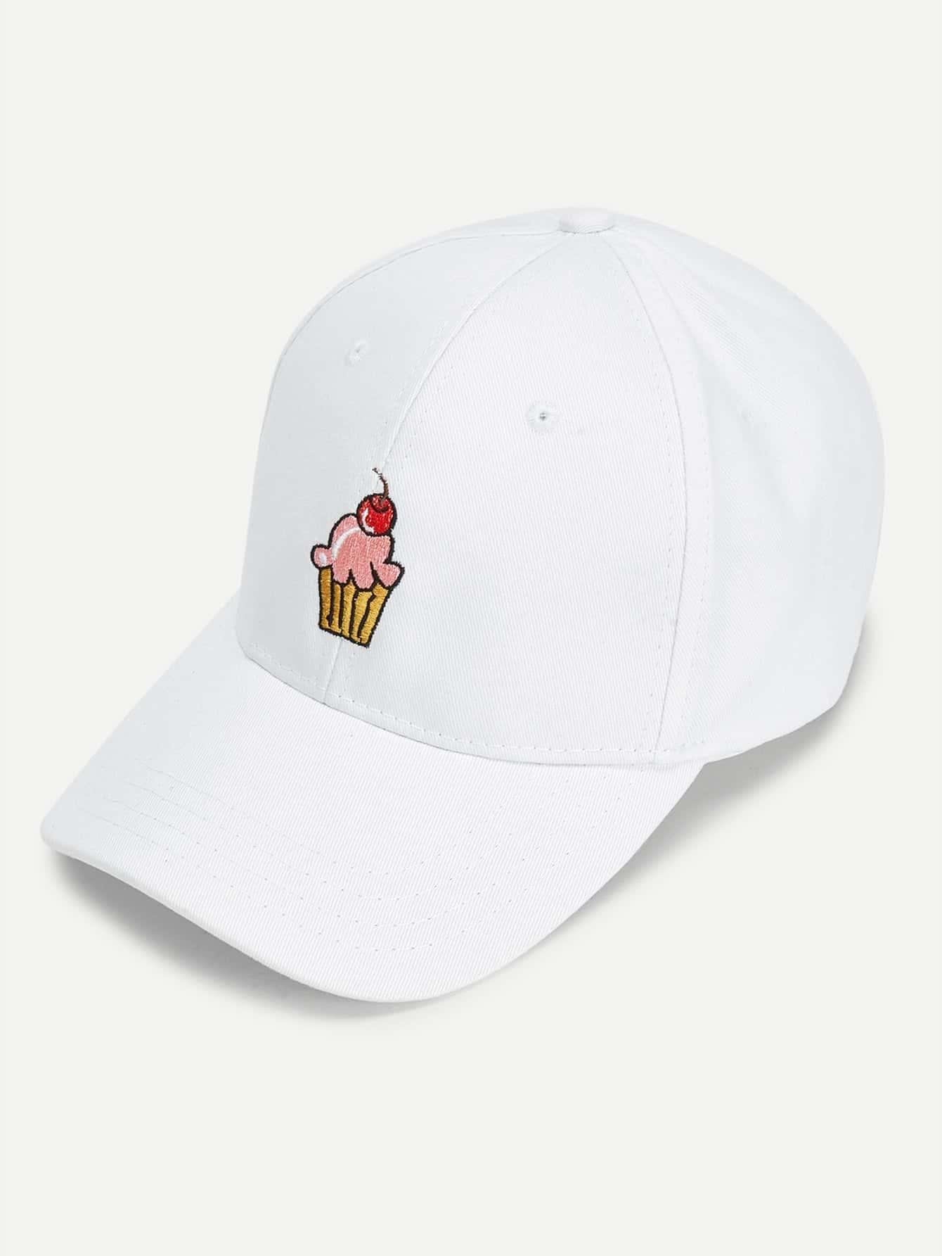 Cute Ice cream Embroidered Baseball Cap