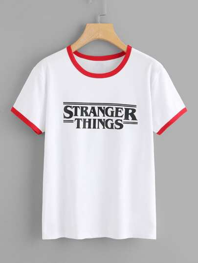 Lettera Stampa Ringer Tee