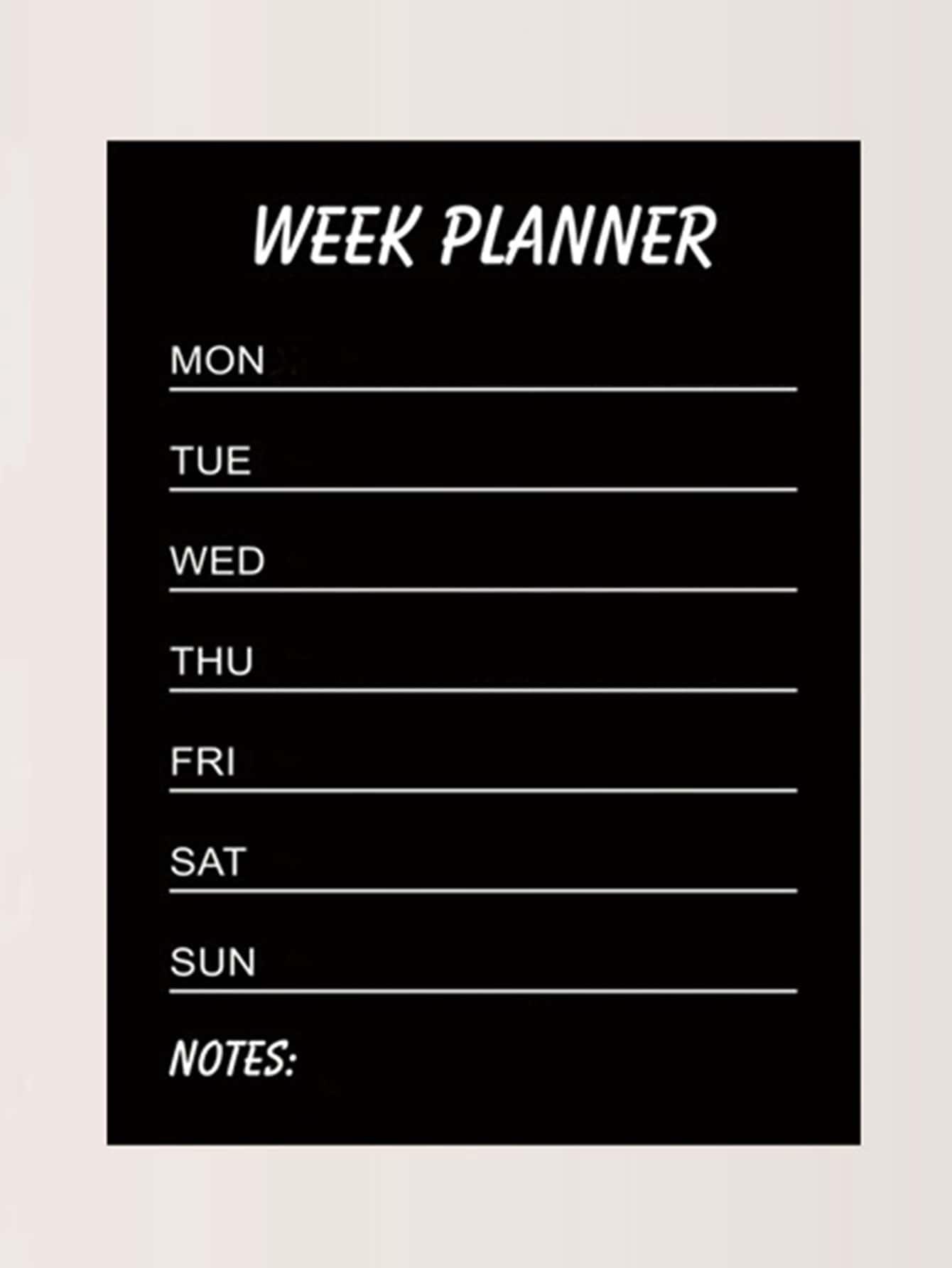 Week Planner Wall Decal