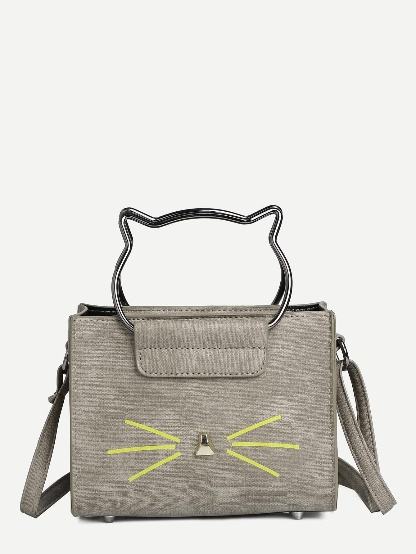 Cat Beard Print Crossbody Bag мужской ремень 29131