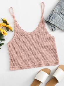 Crochet Crop Cami Top