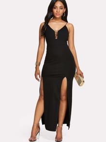 M Split Cut Out Front Slip Dress