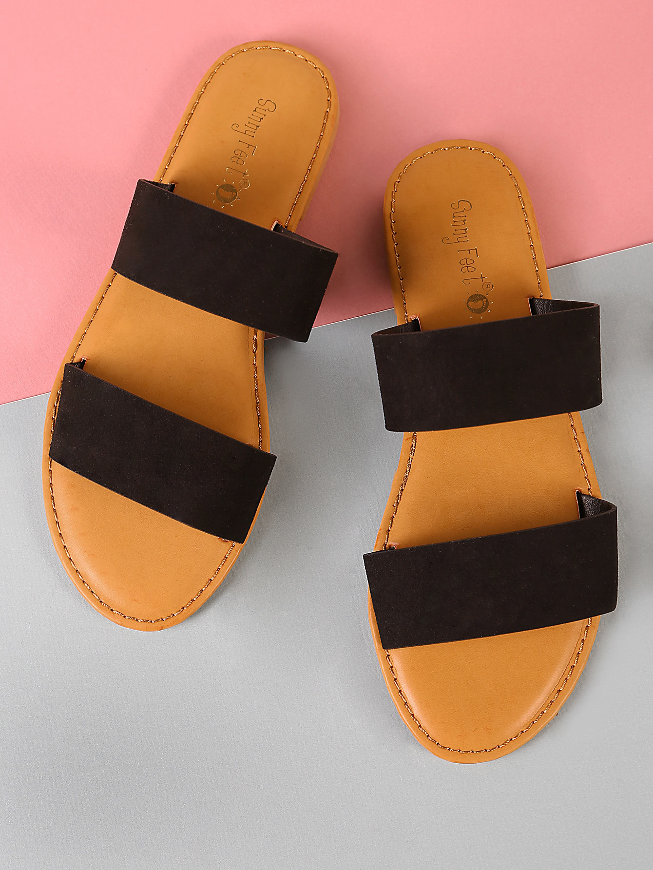 Double Band Slide Sandal BLACK шлепанцы женские soludos knotted slide sandal ivory