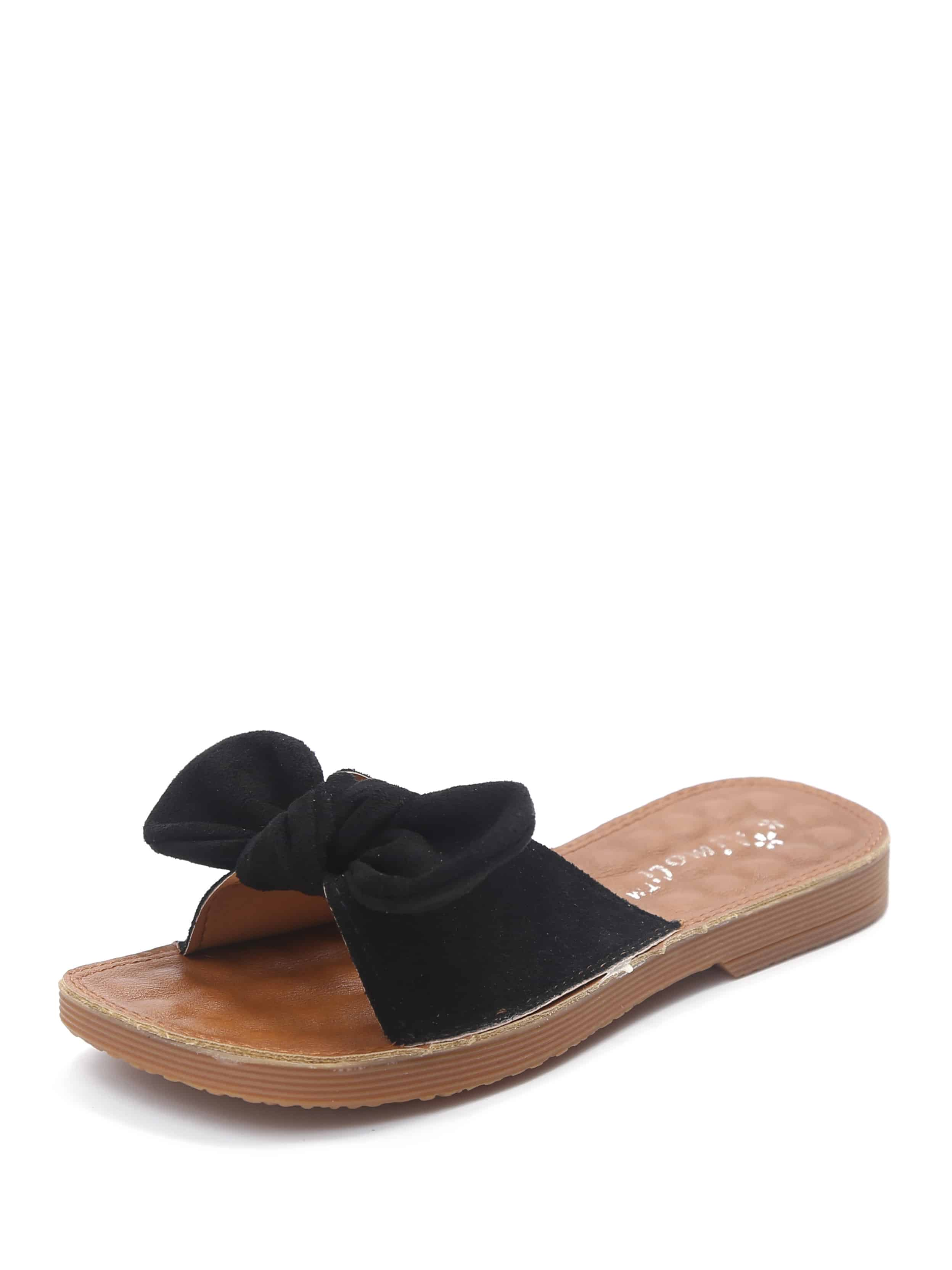 Bow Decorated Flat Sandals