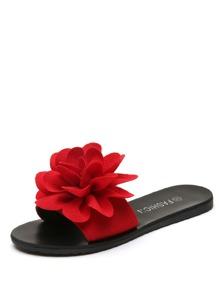 Flower Decor Flat Sandals