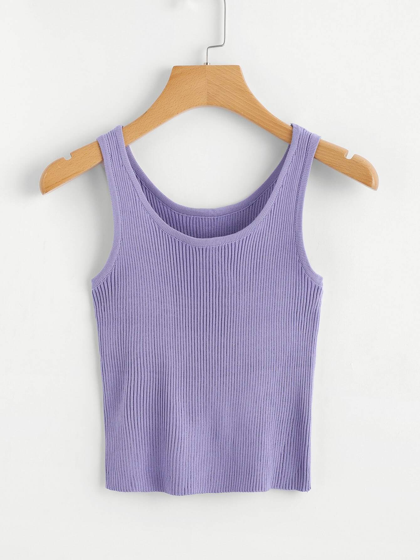 Scoop Neck Ribbed Top