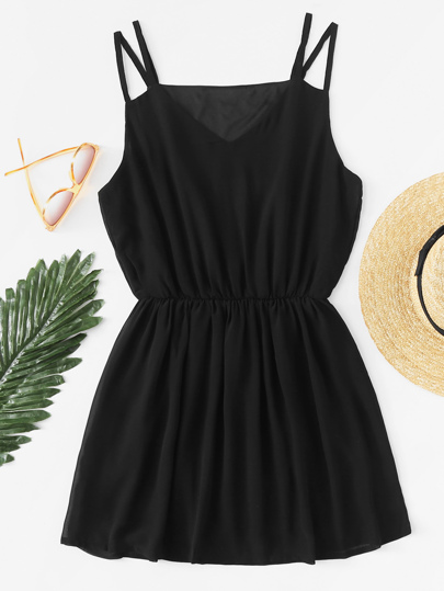 Elastic Waist Cami Dress
