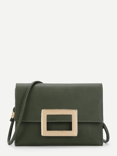 Mental Detail Crossbody Bag