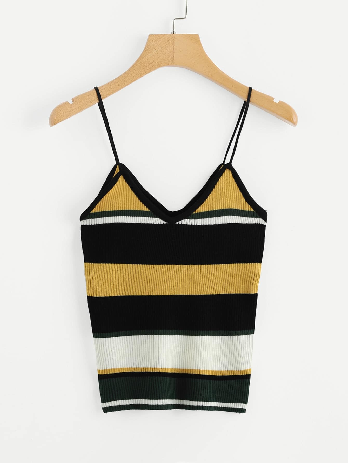 Striped Ribbed Cami Top solid ribbed cami top