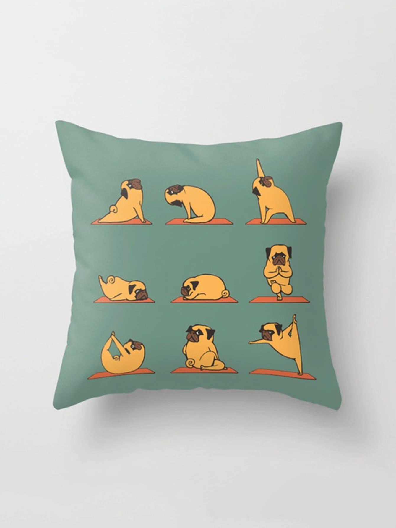 Pug Print Pillowcase Cover pug print pillowcase cover