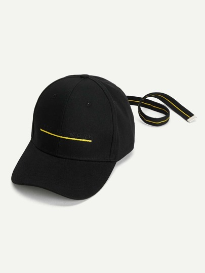 Slogan Embroidered Baseball Cap