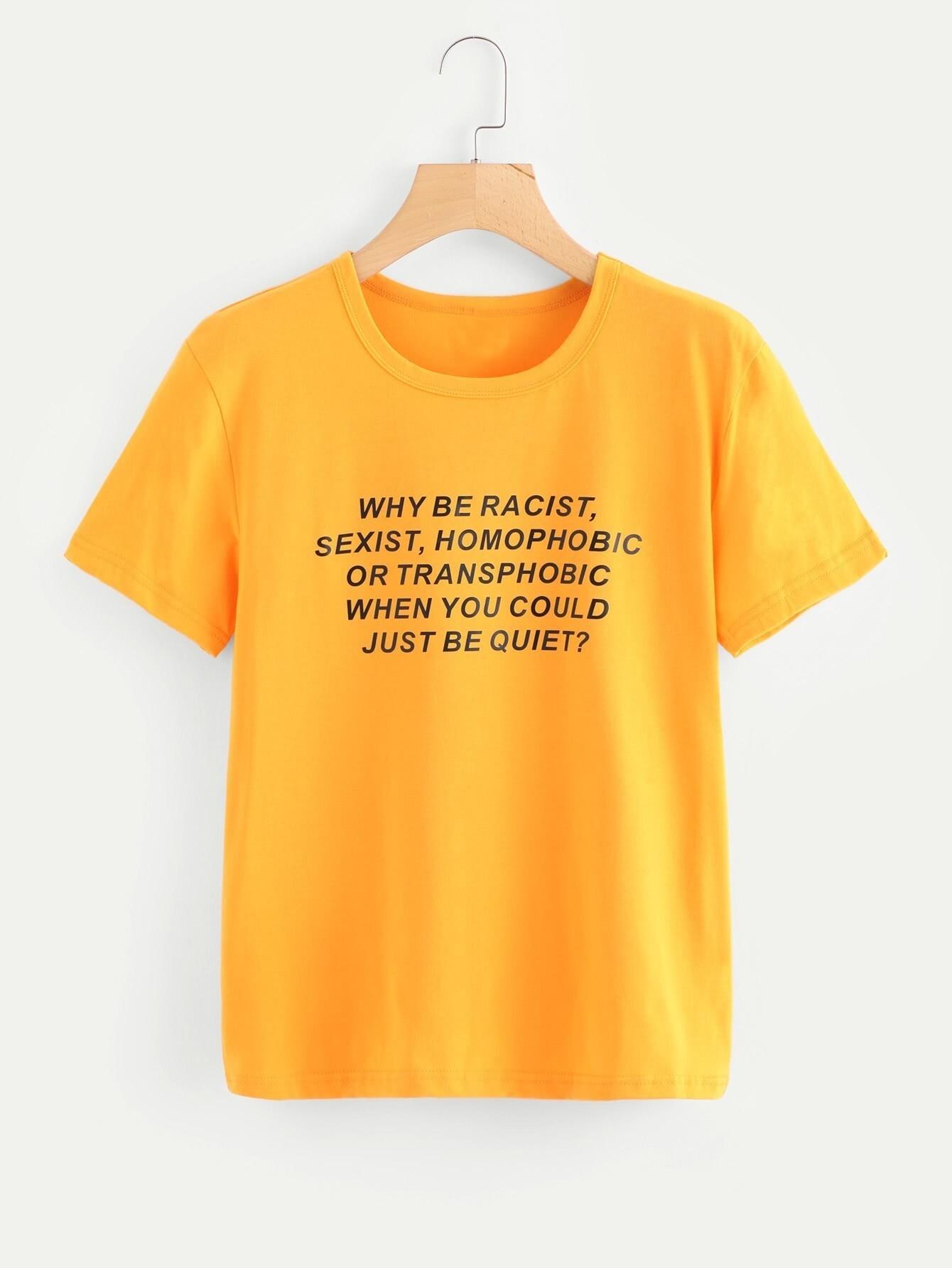 Sentence Print T-shirt