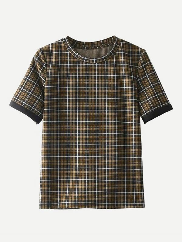 Tartan Plaid T-shirt