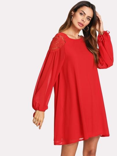 Robe rouge bordeaux zara